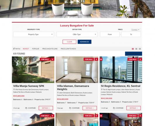 luxuryrealestate malysia website