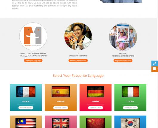 myteacherlanguages malysia website